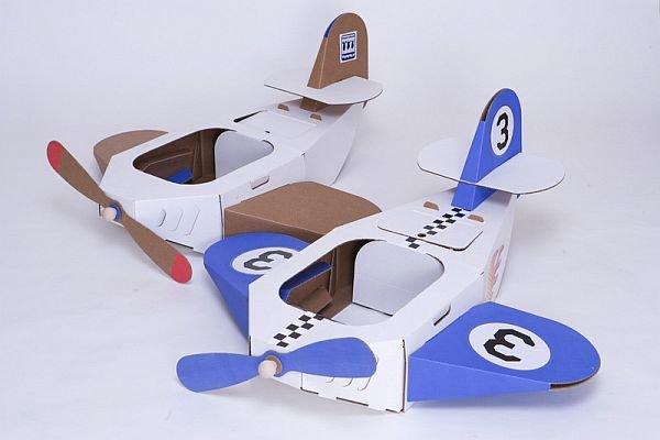 samoloty z tektury