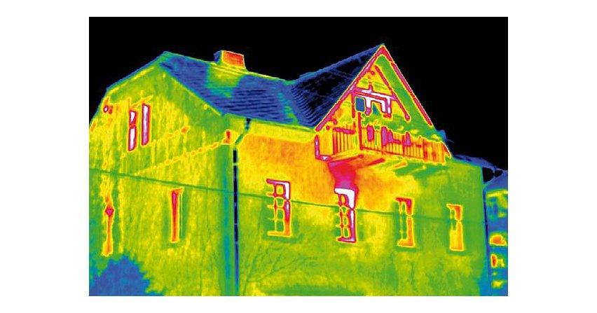 Nieszczelne okna i występujące mostki termiczneFot. InfraTec