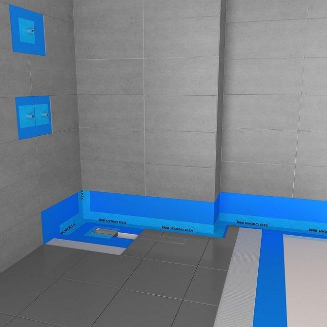 knauf hydro flex przyk ad hydroizolacji w kabinie prysznicowej