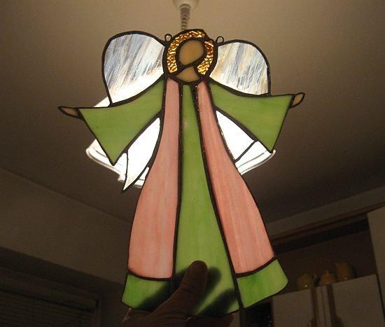 aniolek zielono rozowy