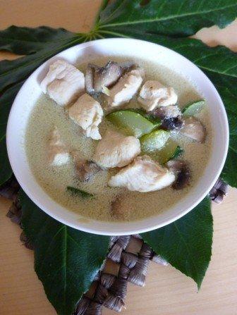 kurczak z zielonym curry