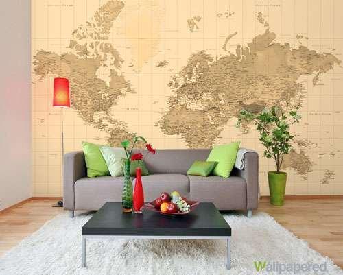 fototapeta mapa wallpapered 1