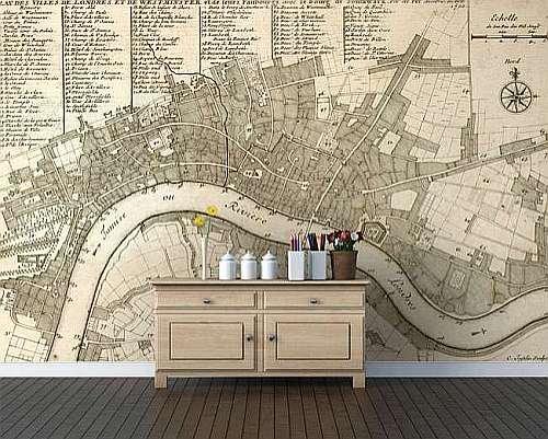 fototapeta mapa wallpapered 5