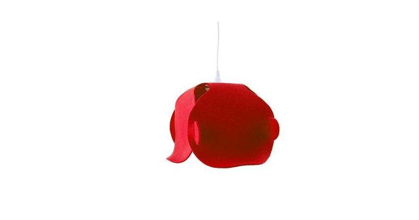 Lampa wisząca wykonana z filcu. Cena 280 zł Fot. Pink Puk Design