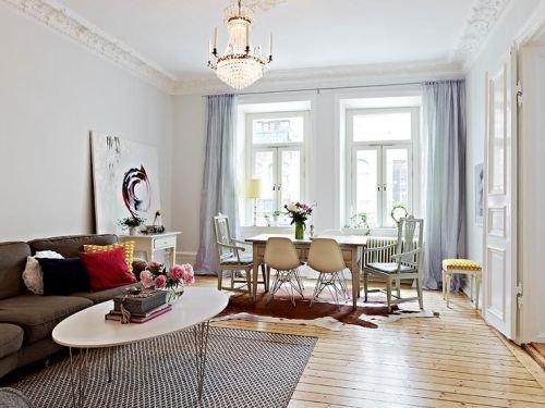 Styl skandynawski - salon