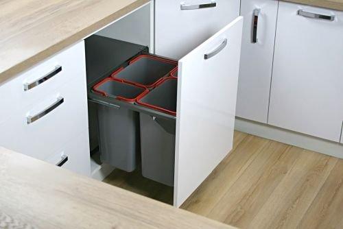 Pojemniki na odpady JC609 oferują ładowność 20 kg. Dostępne są ze szczelną pokrywą zbiorczą. FOT. REJS