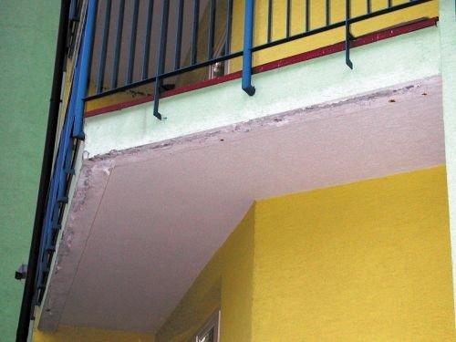 Widok podniebienia balkonu nieocieplonego; fot. SSO