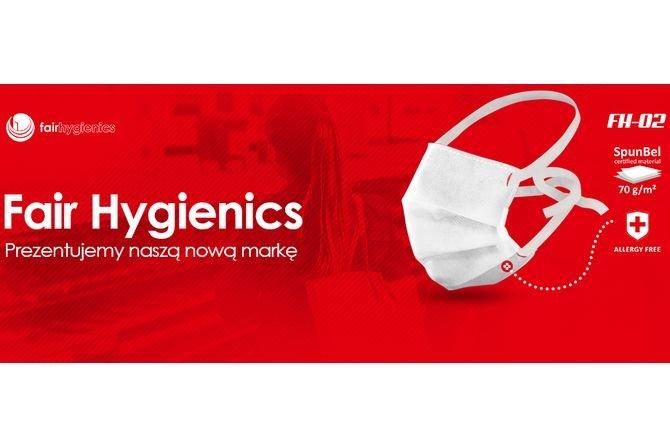 Firma Fair Packaging rozpoczęła produkcję maseczek ochronnych pod nową marką – Fair Hygienics. Fot. Fair Hygienics