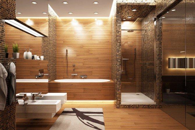 Какую душевую дверь выбрать для душевой кабины в ванную комнату? Фото КРУГ