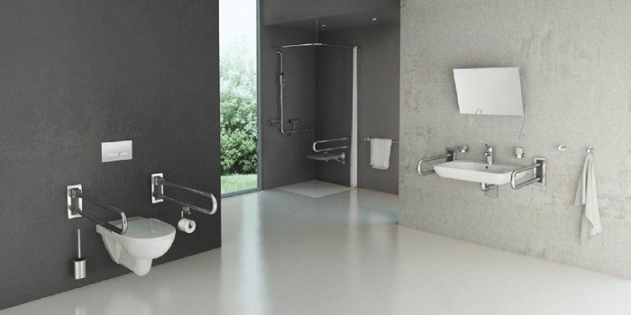 Aranżacja łazienki dla niepełnosprawnych Fot. KOŁO