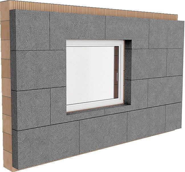 Rys. 3. Poprawne ułożenie płyt styropianowych w obrębie otworu okiennego minimalizuje możliwość występowania rys na przecięciu krawędzi poziomej i pionowej otworu okiennego, a także umożliwia poprawną obróbkę na styku ściana zewnętrzna–stolarka okienna; .