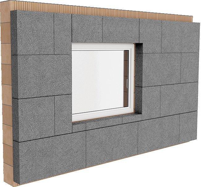 Rys. 4. Niepoprawne ułożenie płyt styropianowych w obrębie otworu okiennego może prowadzić do występowania rys na przecięciu krawędzi poziomej i pionowej otworu oraz pionowych rys, a także odspajania płyt, szczególnie przy krawędziach otworów okiennych; .
