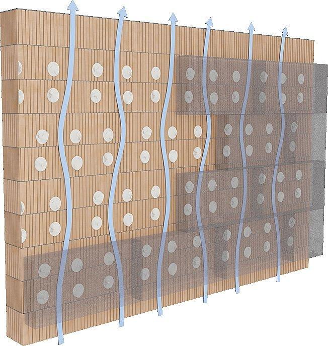 Rys. 8. Brak pełnego klejenia (obwodowego po krawędzi płyt styropianowych oraz odpowiedniej ilości placków) obniża trwałość przyczepności płyt, a także może powodować występowanie szczelin powietrznych pomiędzy ścianą a materiałem termoizolacyjnym oraz m.