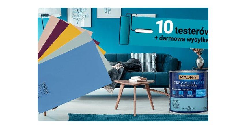 Zamów newsletter i maluj ściany z testerami farb Fot. FFiL Śnieżka