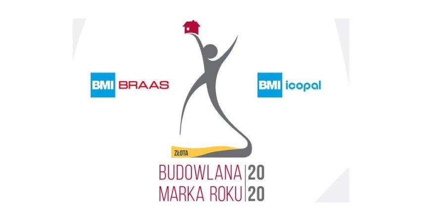 BMI Braas i BMI Icopal – Złote Budowlane Marki Roku 2020 Fot. BMI Polska