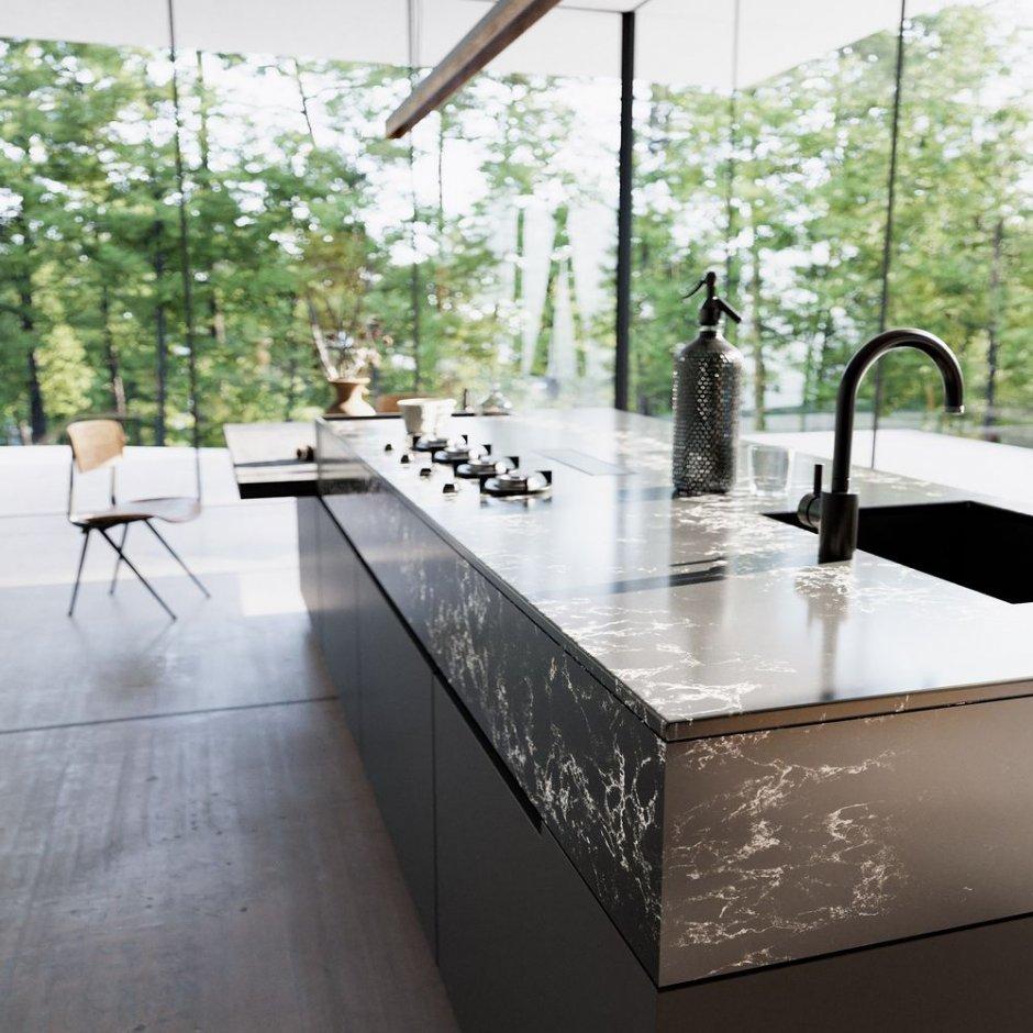 technistone pearl lava private residence3